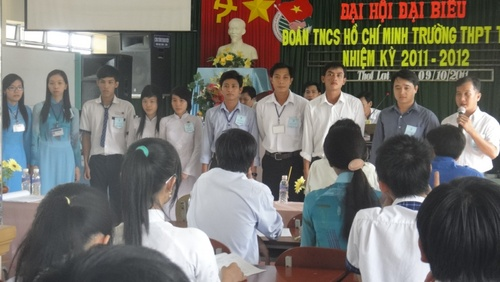 Đại Hội Đoàn Trường THPT Thới Lai